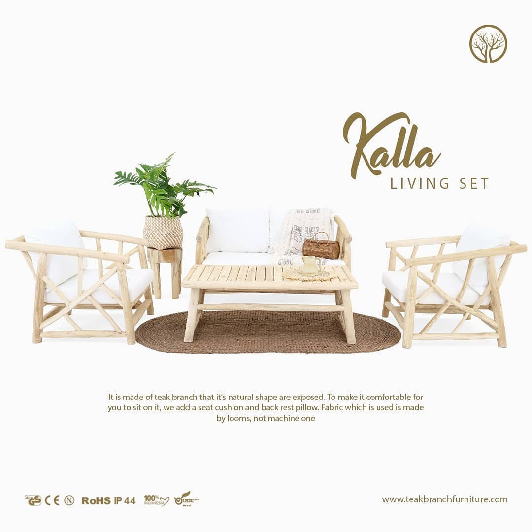 Kalla Living Set, Bohemian living furniture sets